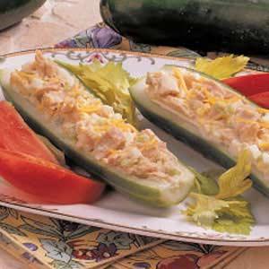 Cucumber Tuna Boats Recipe