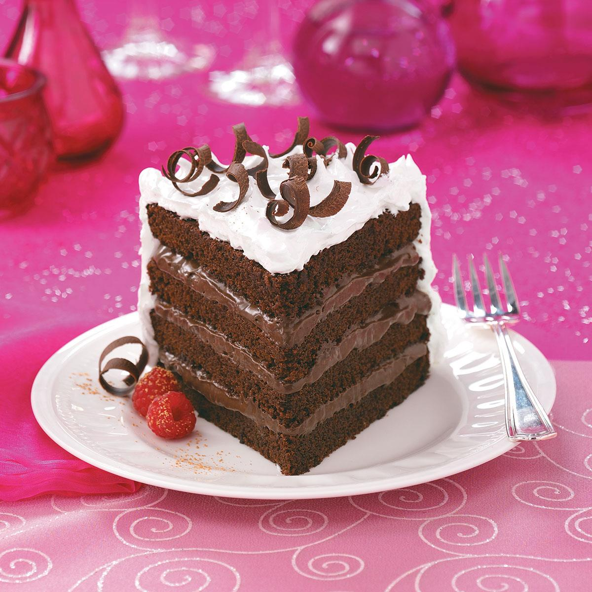 4Layer Chocolate Torte Recipe Taste of Home