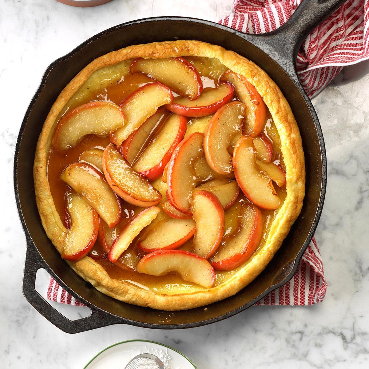 Apple-Honey Dutch Baby Recipe | Taste of Home