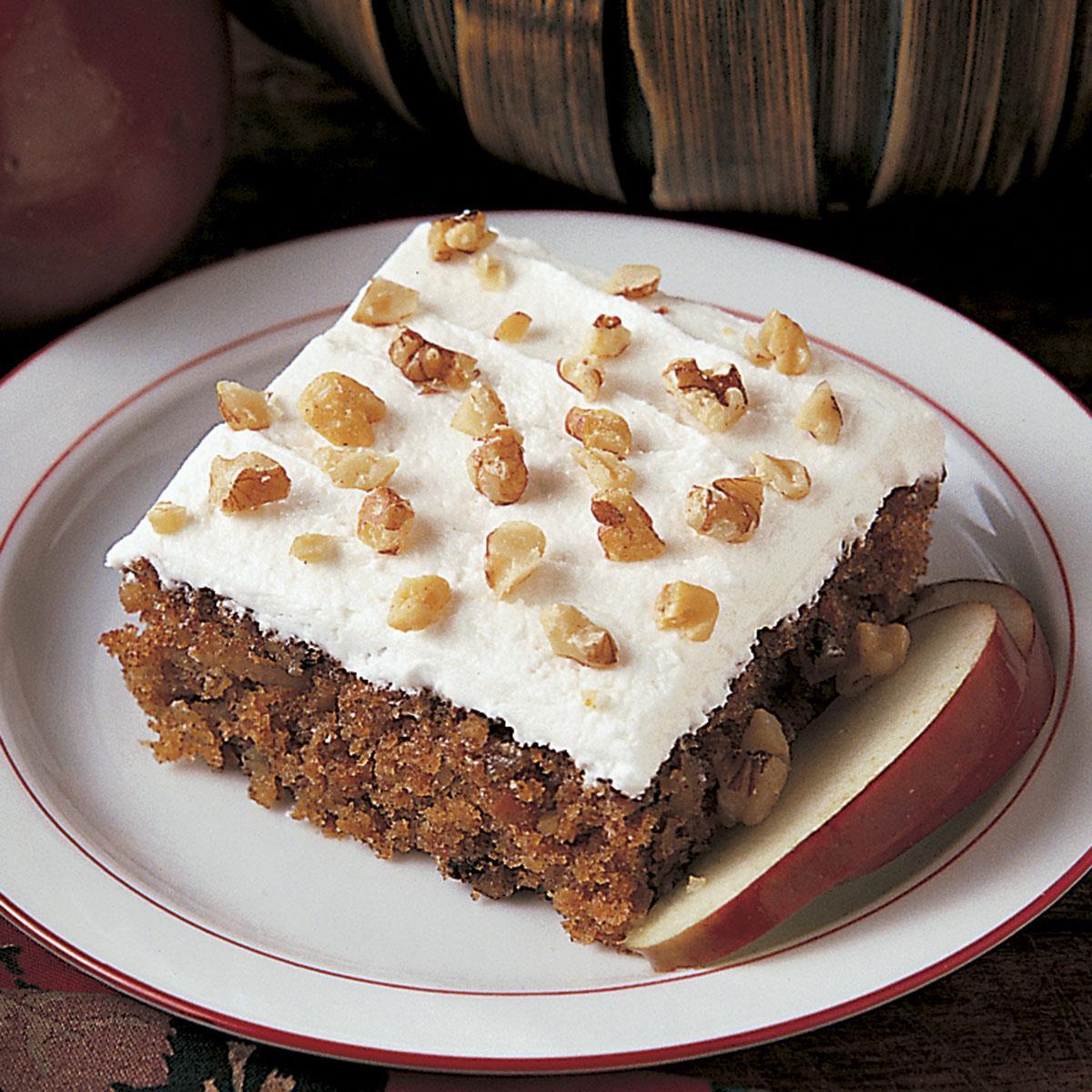 Apple Walnut Cake Recipe Taste Of Home