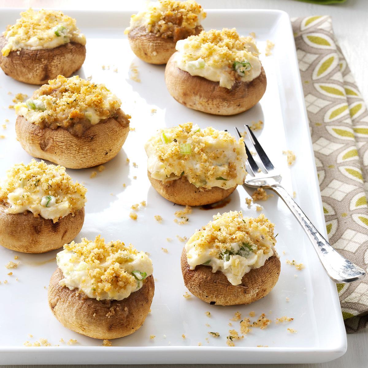 Artichoke Mushroom Caps Recipe | Taste of Home