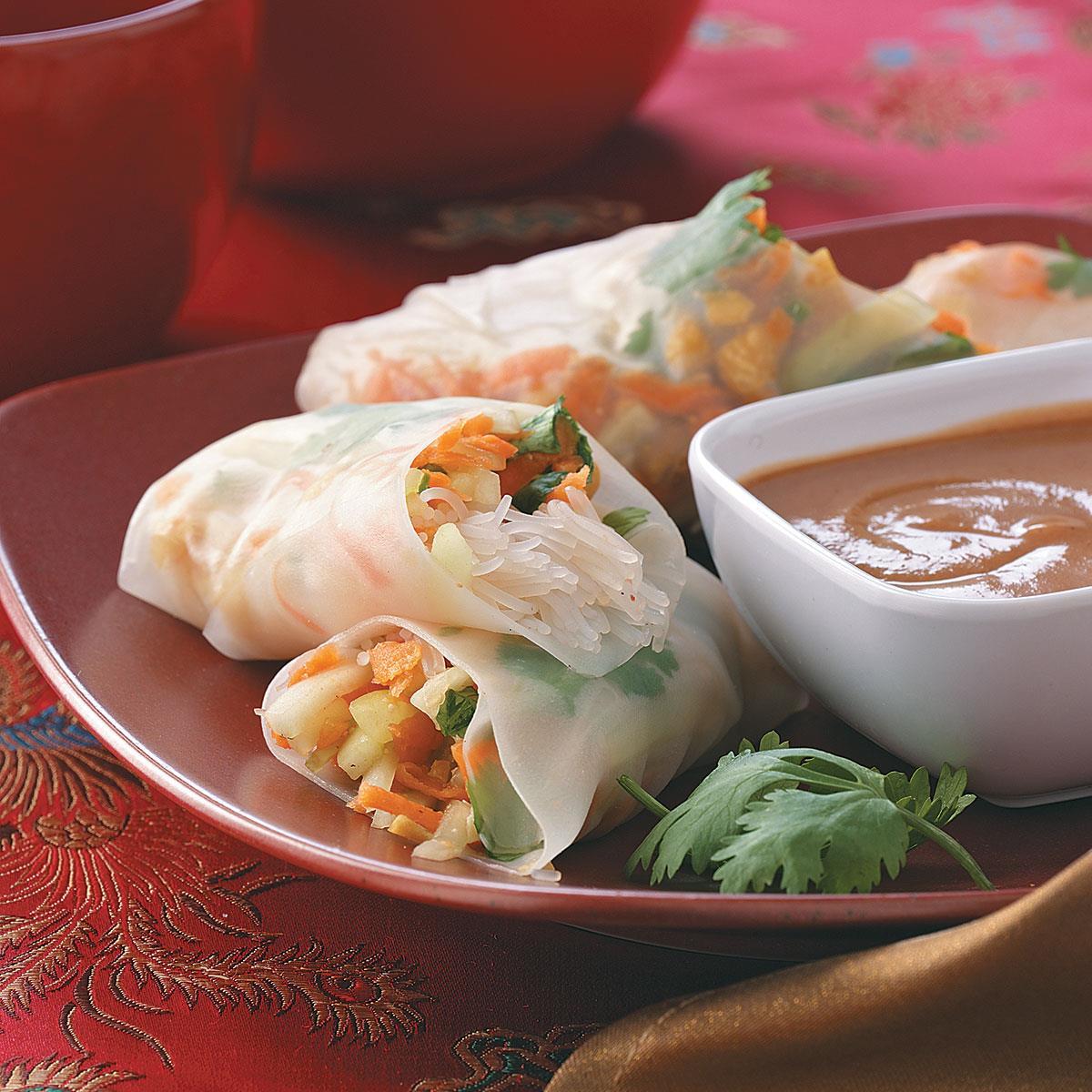 Asian recipe roll spring