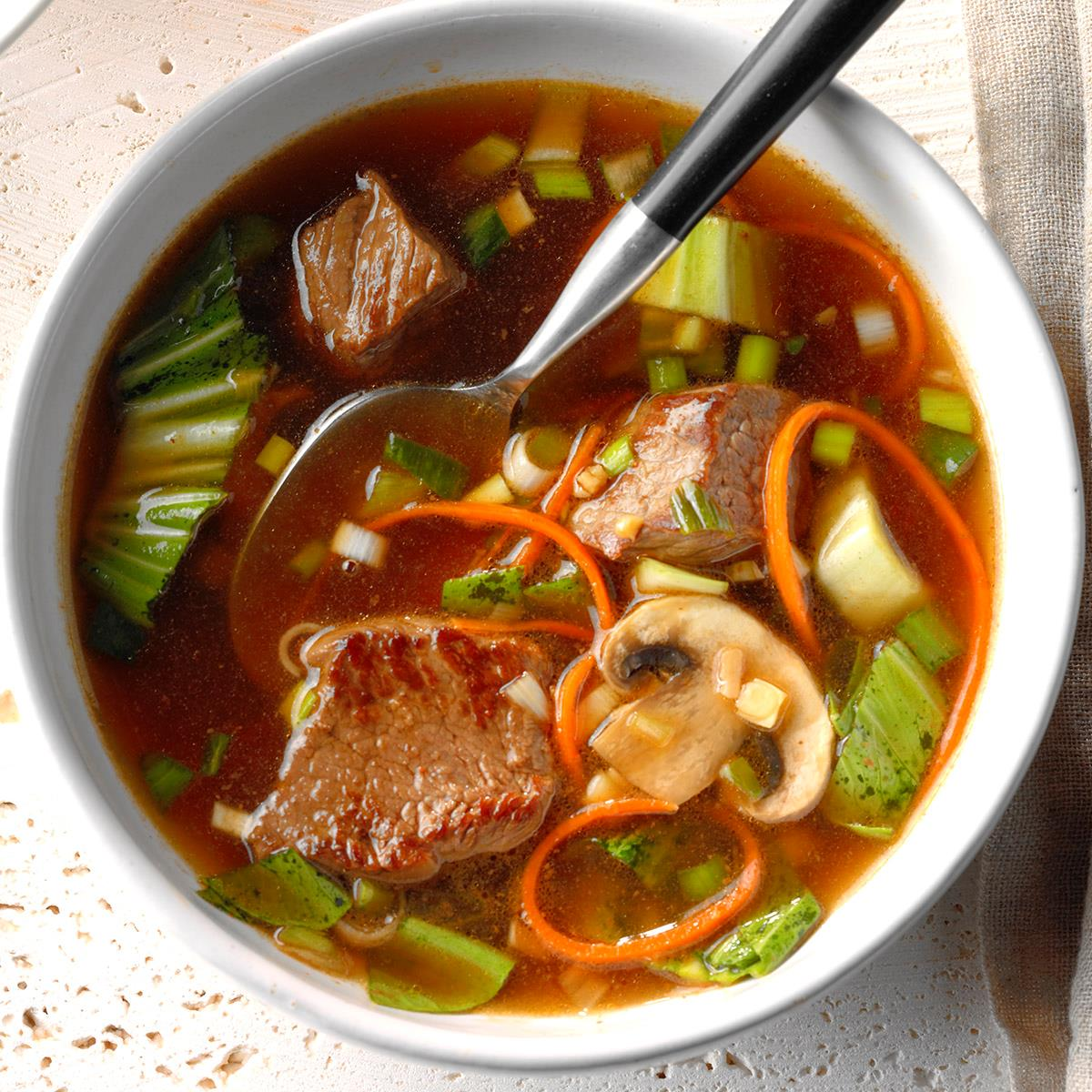 Asian Vegetable-Beef Soup Recipe | Taste of Home
