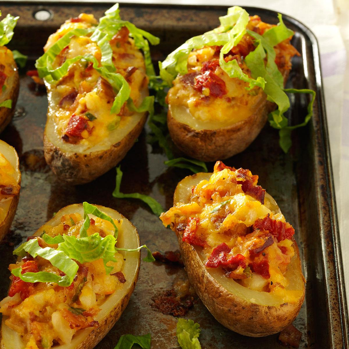 twice baked potatoes blt baked potatoes recipe taste of home 12446