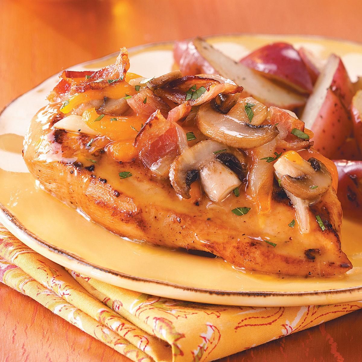Chicken Rcipes: Bacon-Cheese Topped Chicken Recipe