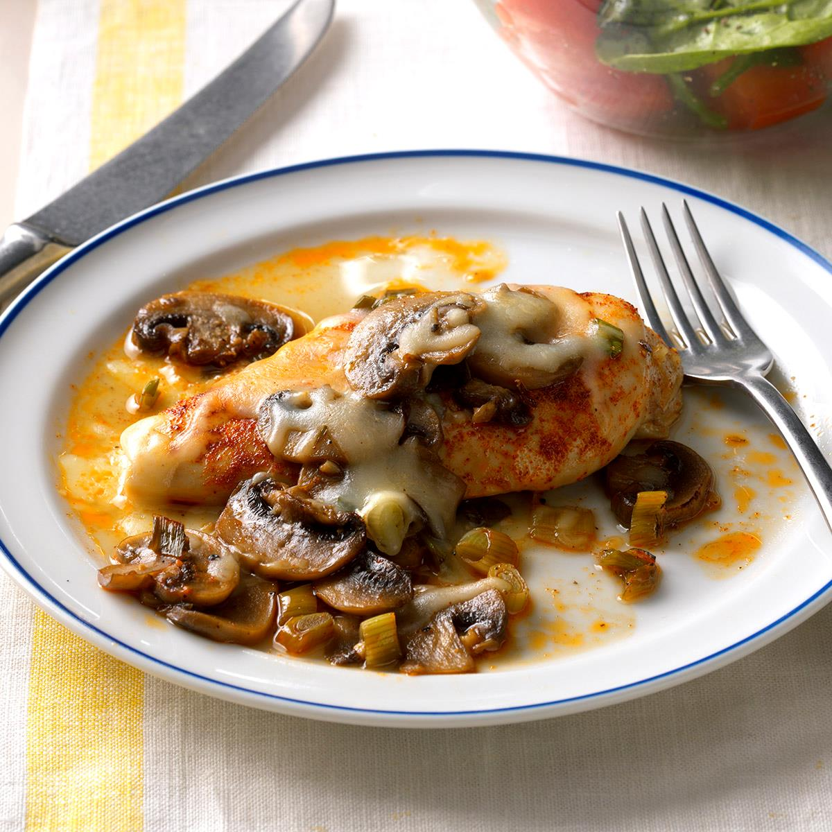 Baked Chicken And Mushrooms Recipe