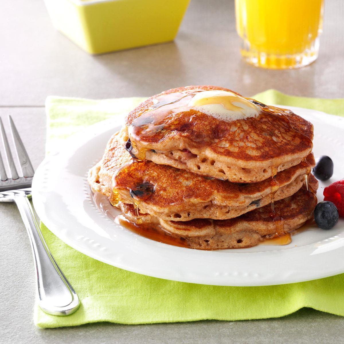 Berry granola pancakes recipe taste of home ccuart Gallery