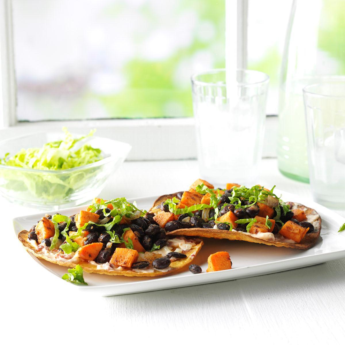 Black Bean & Sweet Potato Tostadas Recipe   Taste of Home