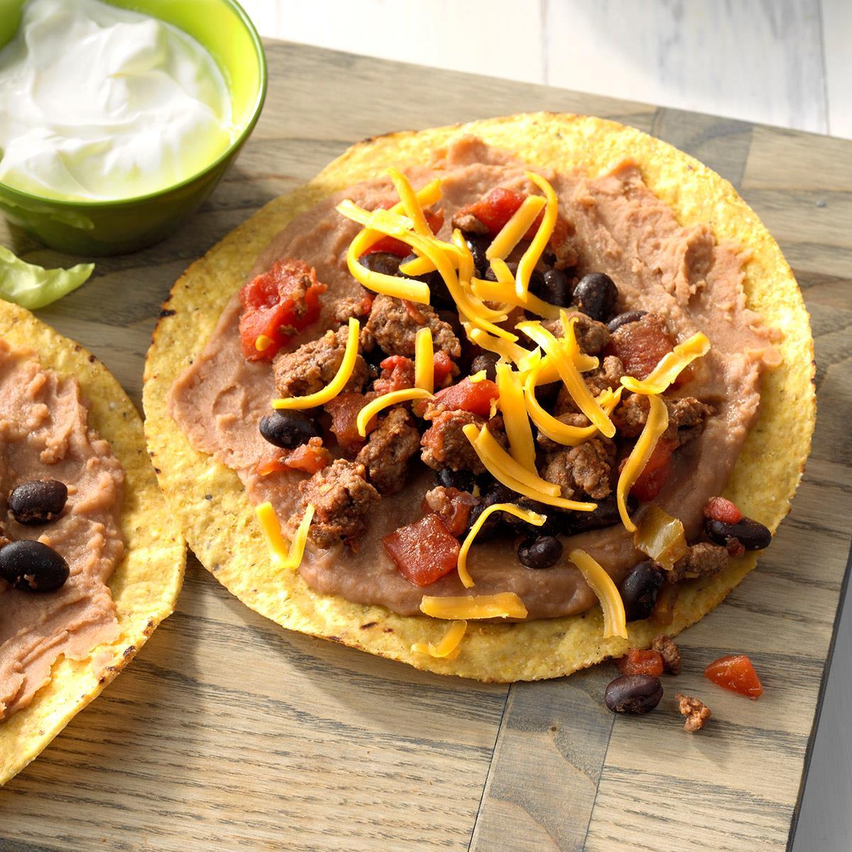 Black Bean And Beef Tostadas Recipe