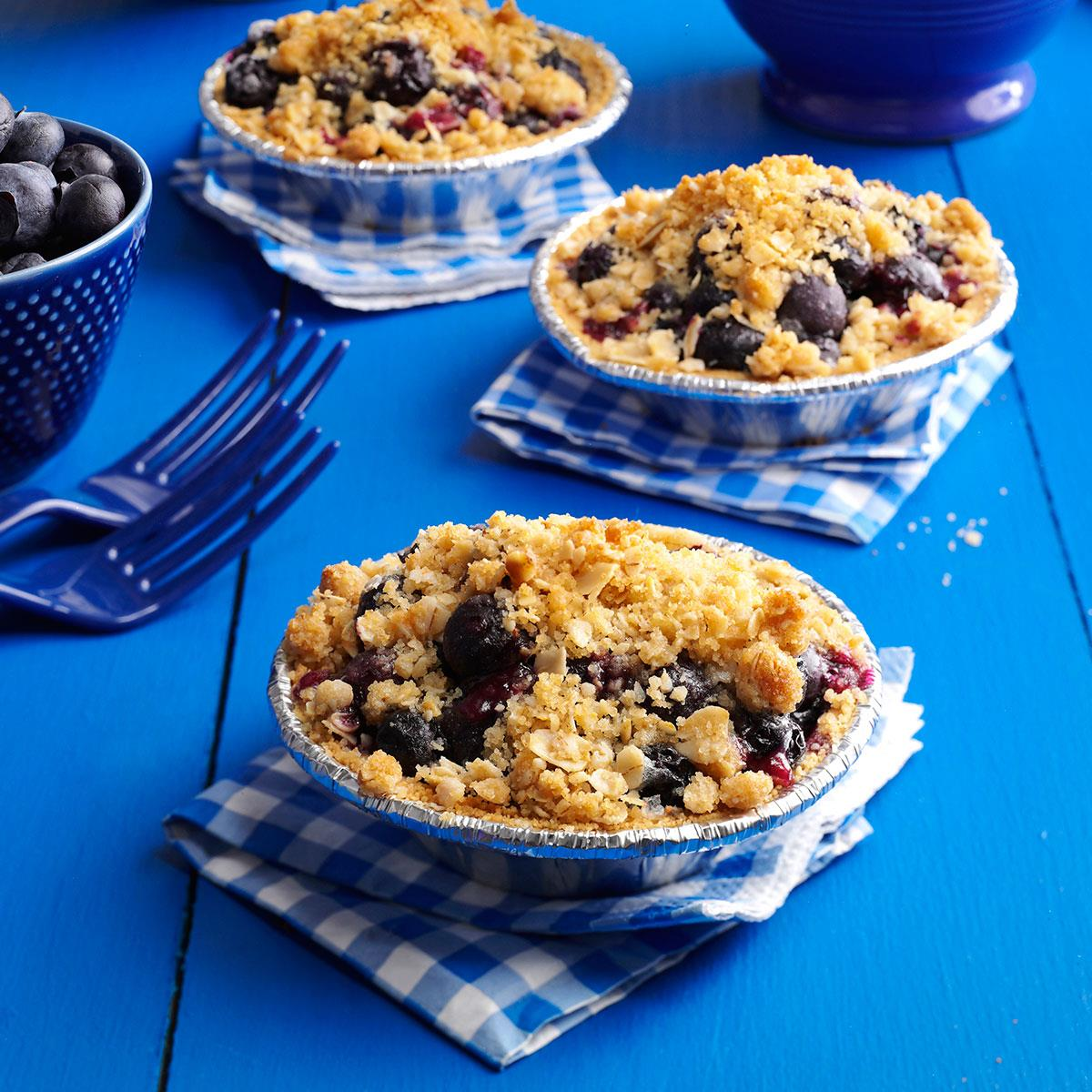 Blueberry Crumble Tarts Recipe Taste Of Home