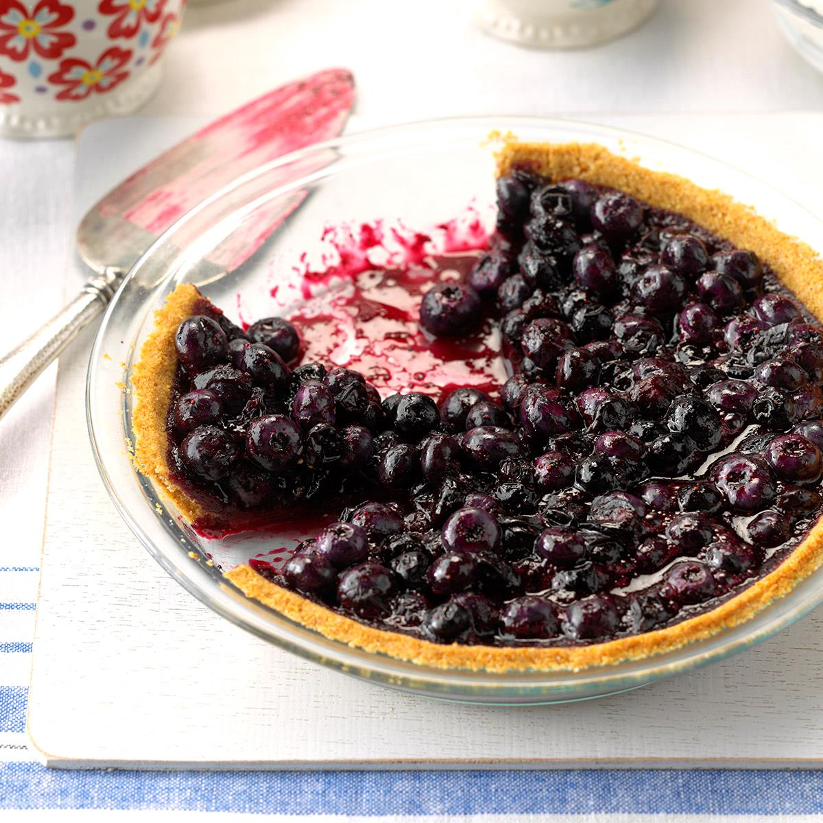 Blueberry Pie With Graham Cracker Crust Recipe Taste Of Home