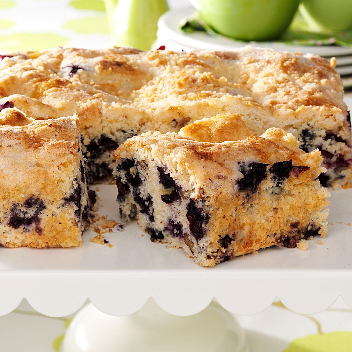 blueberry coffee cake blueberry streusel coffee cake recipe taste of home 1969
