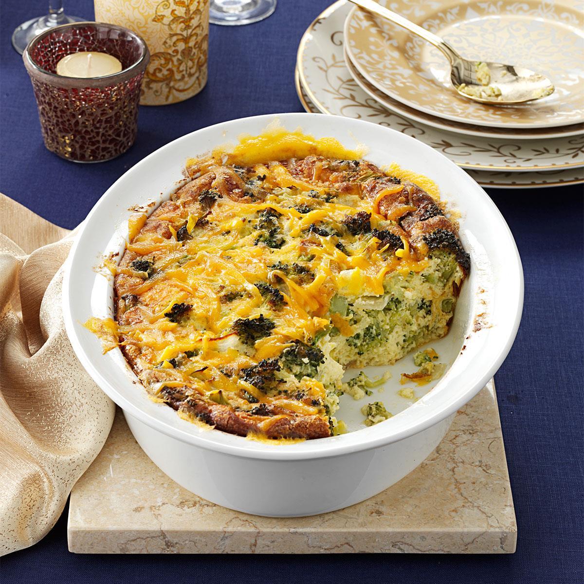 Broccoli cheddar casserole recipe taste of home forumfinder Images