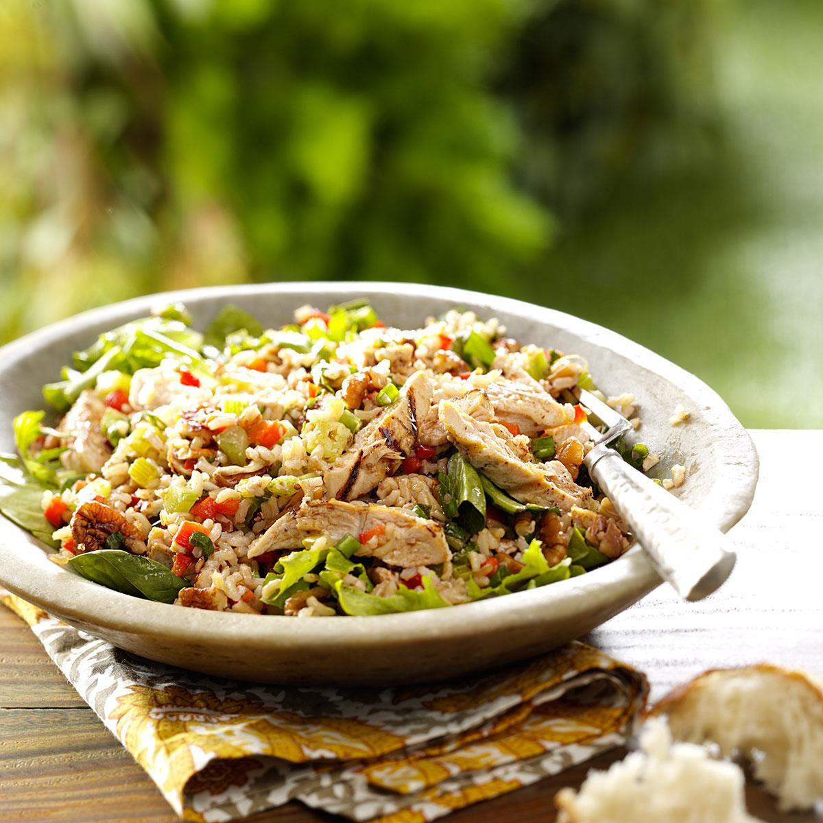 Brown Rice Salad With Grilled Chicken Recipe