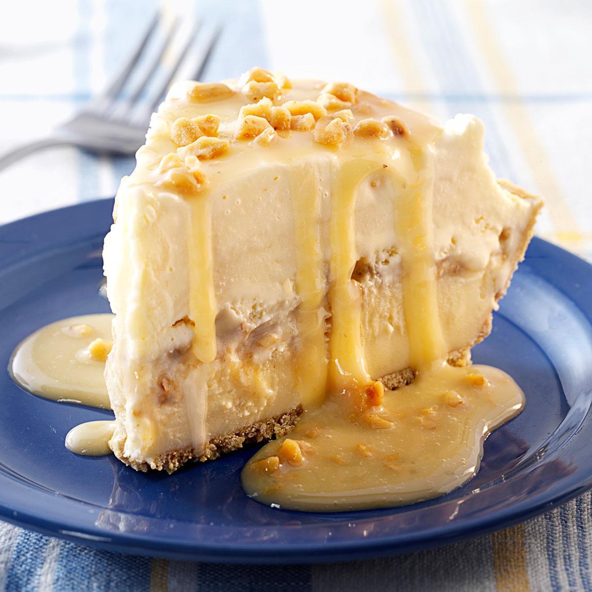 butter brickle ice cream pie recipe | taste of home