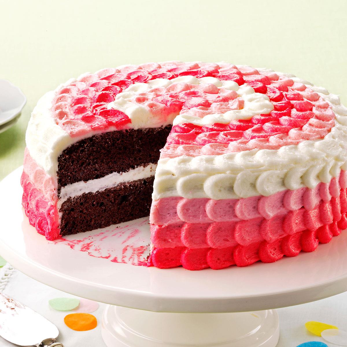 Chocolate Raspberry Cake Whipped Cream Frosting