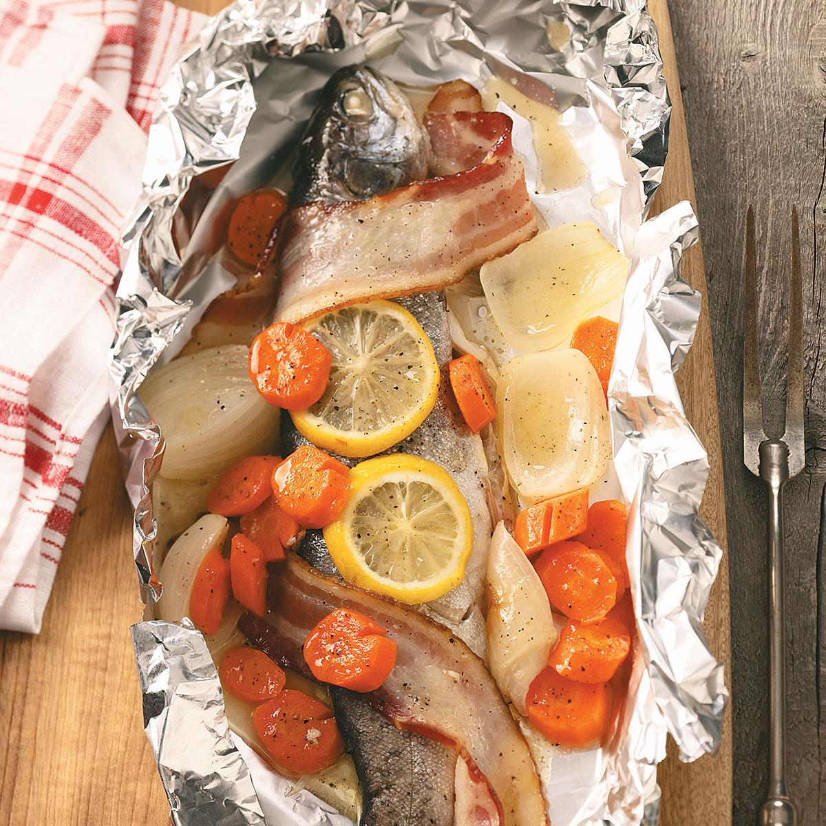 Campfire Trout Dinner Recipe Taste Of Home