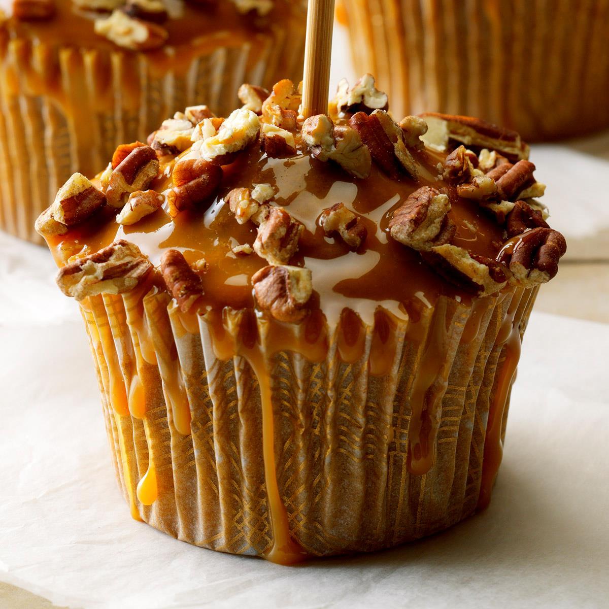Caramel Apple Cupcakes Recipe Taste Of Home