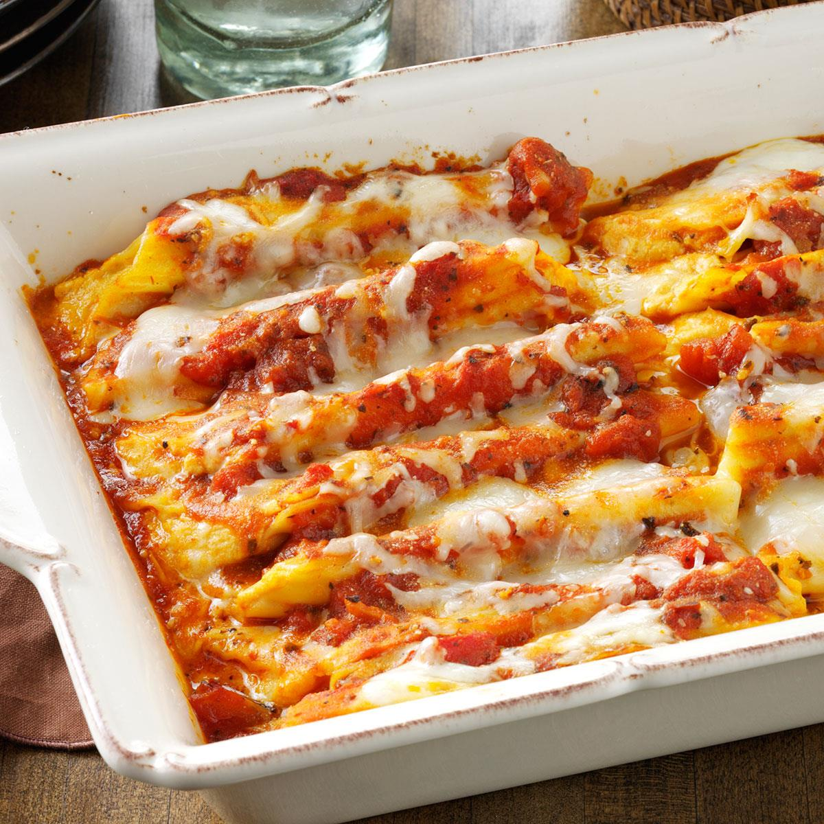 Cheese & Pumpkin-Filled Manicotti Recipe