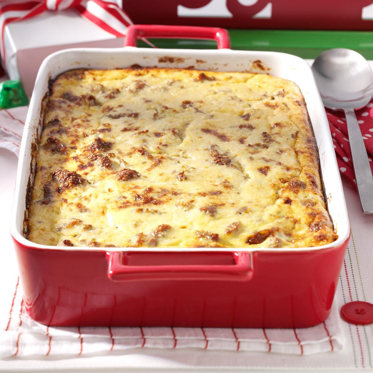 Cheese Grits & Sausage Breakfast Casserole Recipe