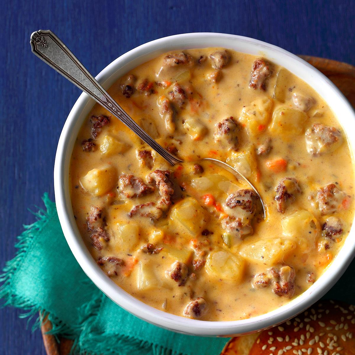 Cheeseburger soup recipe taste of home forumfinder Choice Image