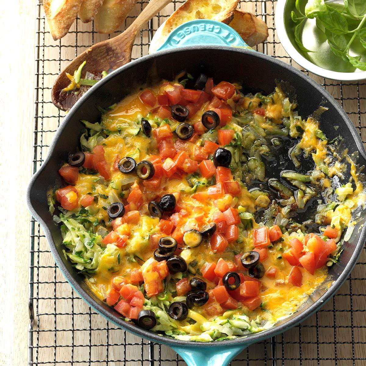 Cheesy Zucchini Saute Recipe
