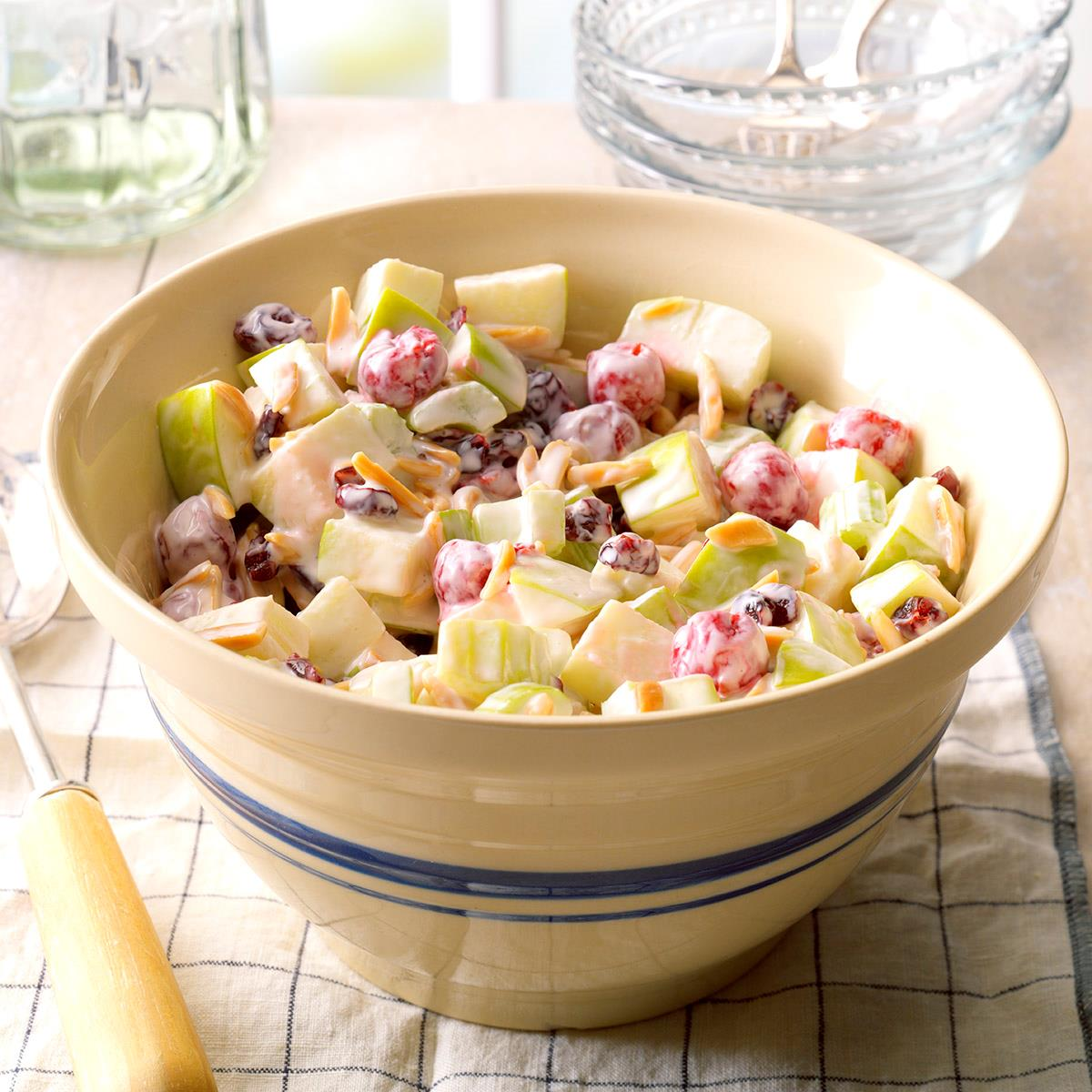 Cherry waldorf salad recipe taste of home for Waldorf at home