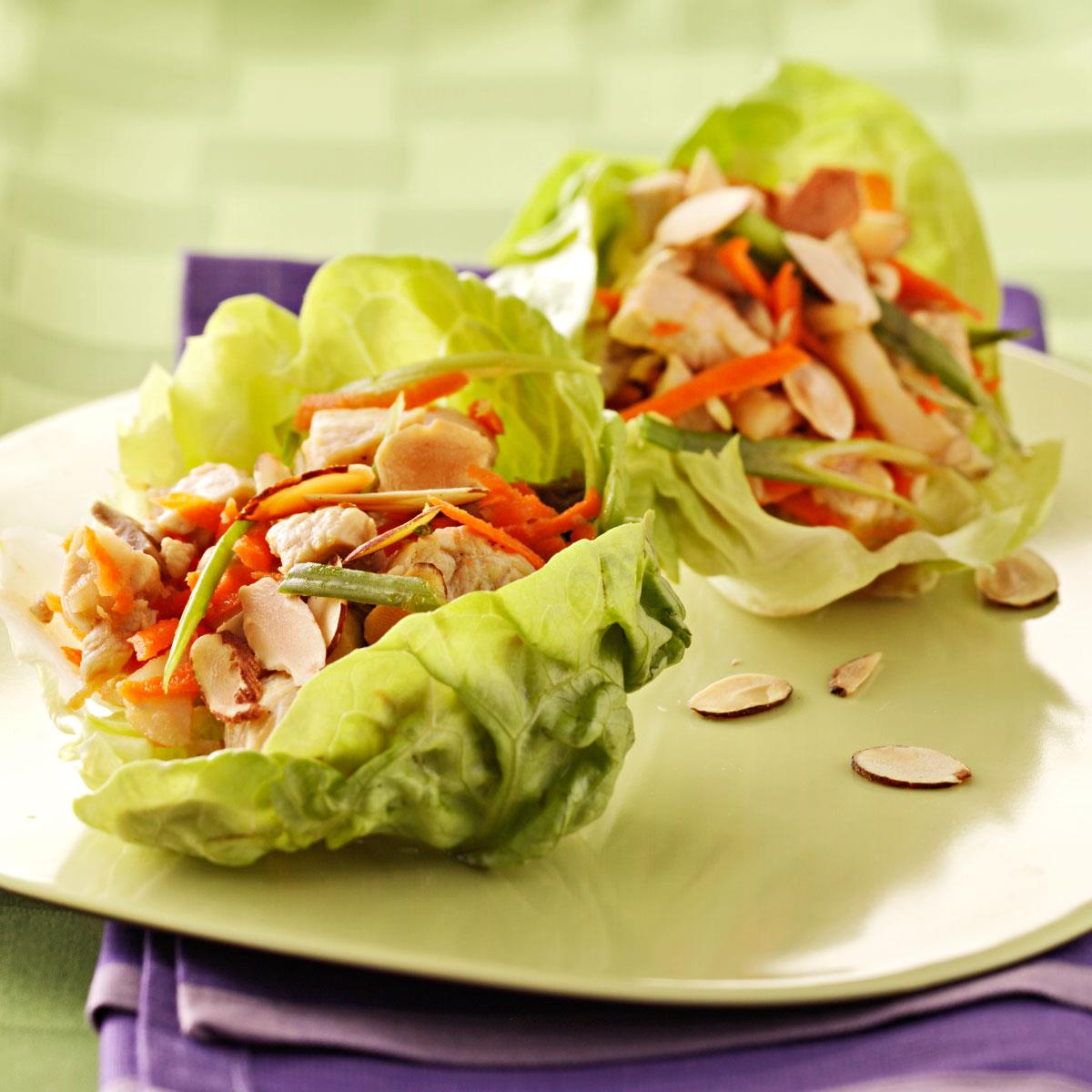 Chicken Lettuce Wraps Recipe   Taste of Home