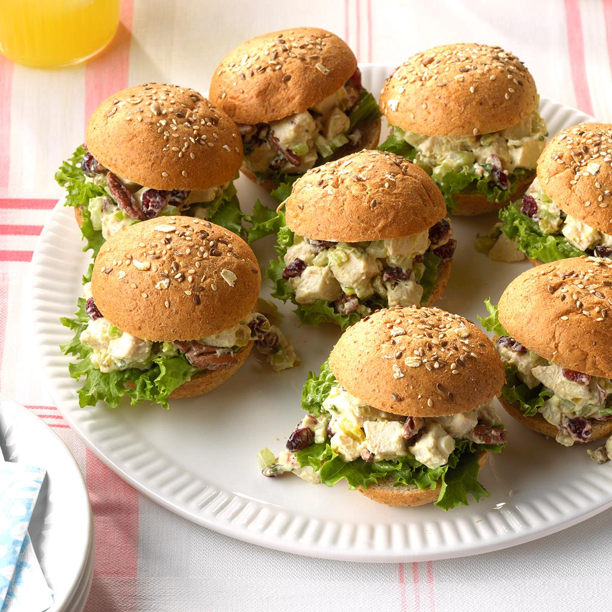 Chicken salad party sandwiches recipe taste of home for House party recipes