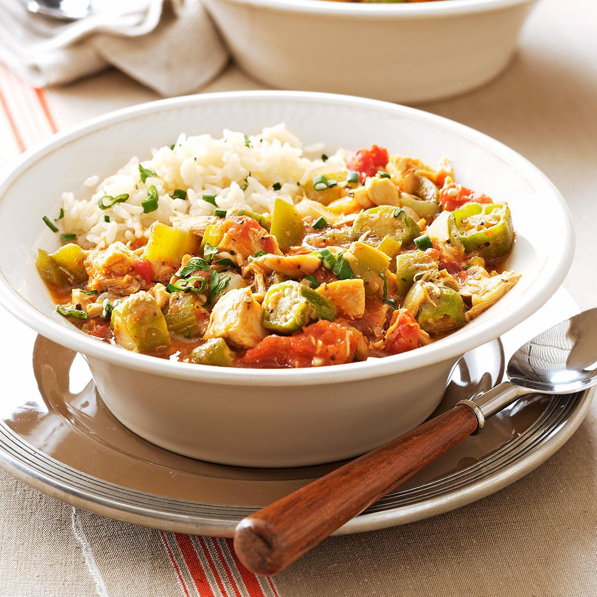 Chicken and okra gumbo recipe taste of home forumfinder Images