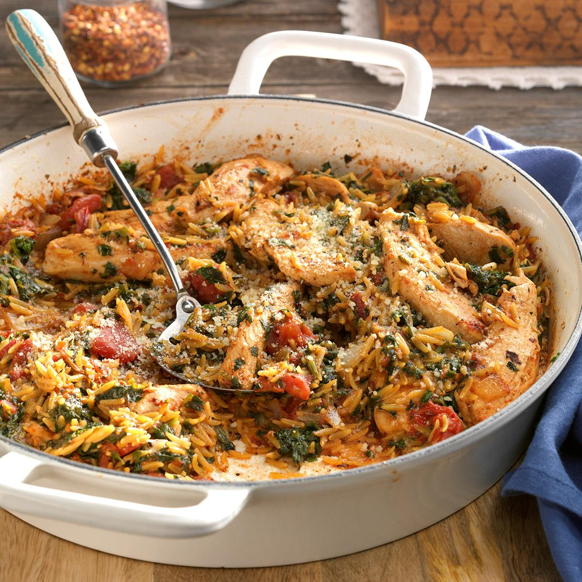 Mediterranean Pork And Orzo Recipe: Chicken And Orzo Skillet Recipe