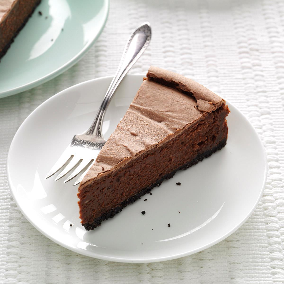 Chocolate Cheesecake Recipe | Taste of Home