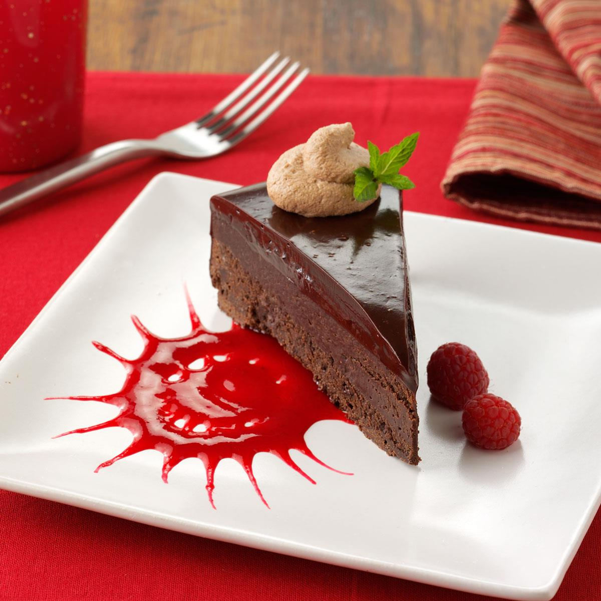 Flourless Chocolate Cake Raspberry Ganache