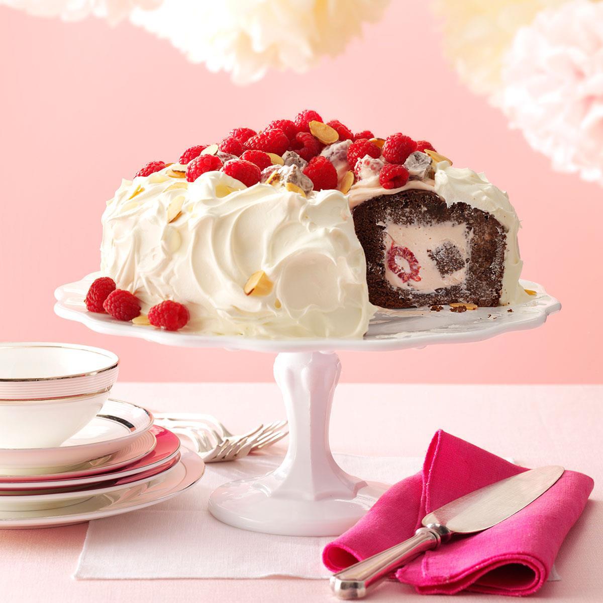 Chocolate Raspberry Tunnel Cake Recipe Taste Of Home