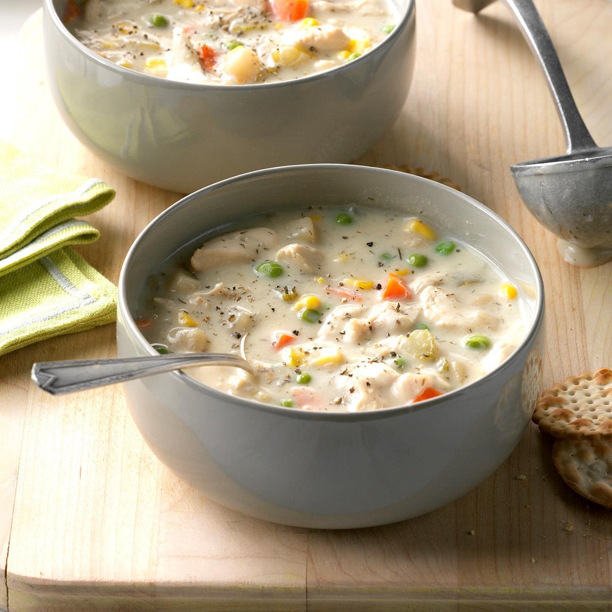 Chunky Creamy Chicken Soup Recipe