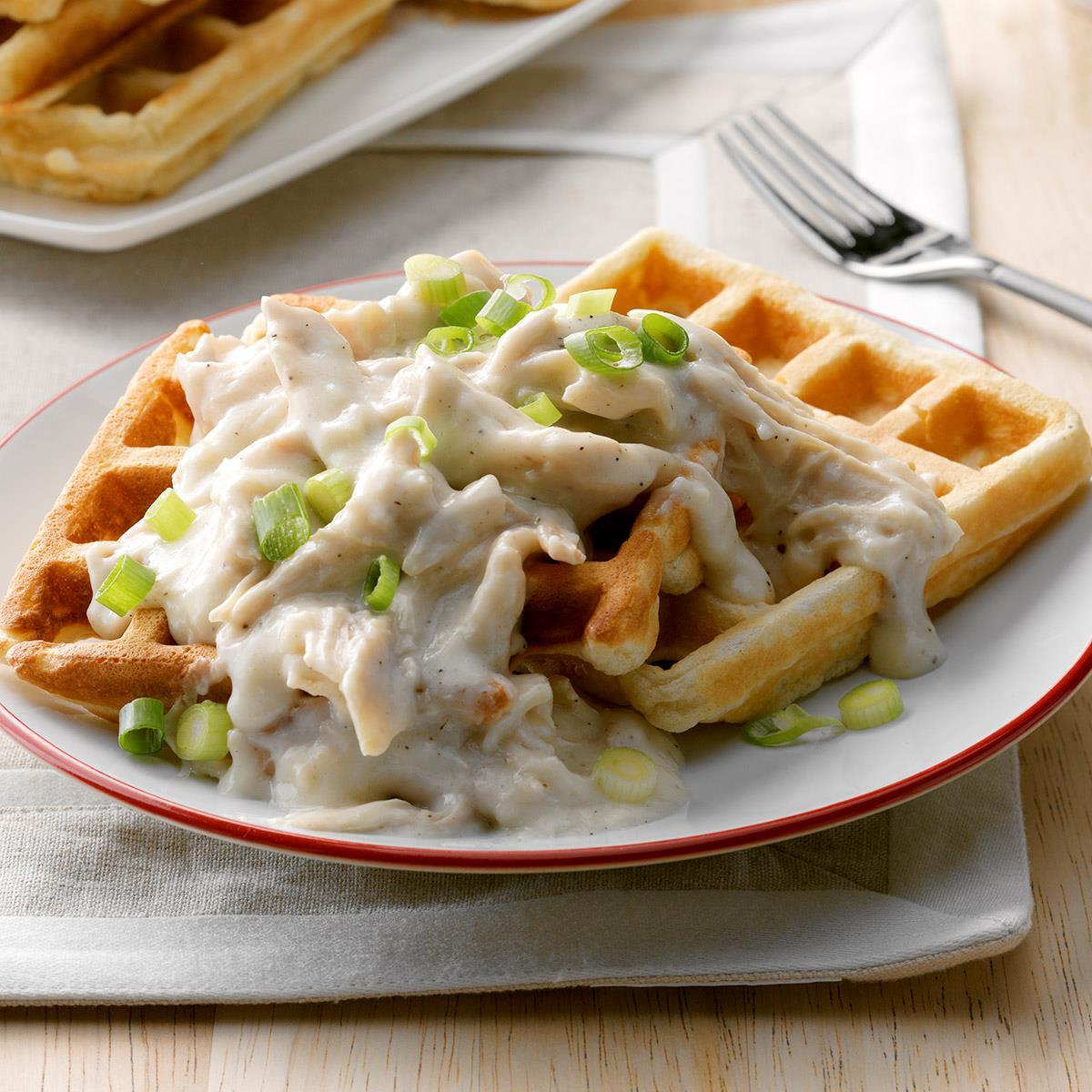 Classic Chicken & Waffles Recipe | Taste of Home $7 Chicken Classic