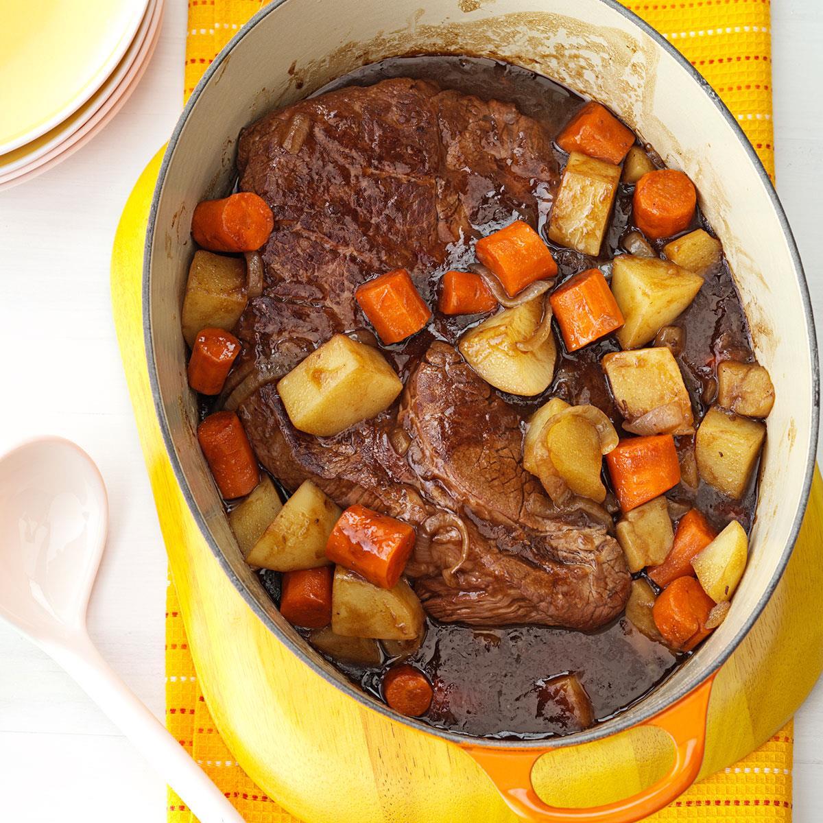 company pot roast recipe taste of home. Black Bedroom Furniture Sets. Home Design Ideas