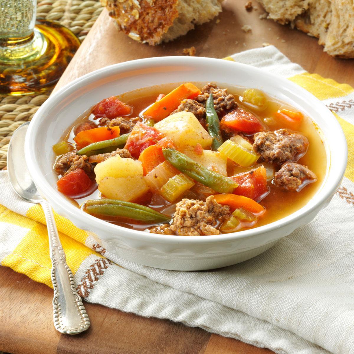 Contest-Winning Hearty Hamburger Soup Recipe