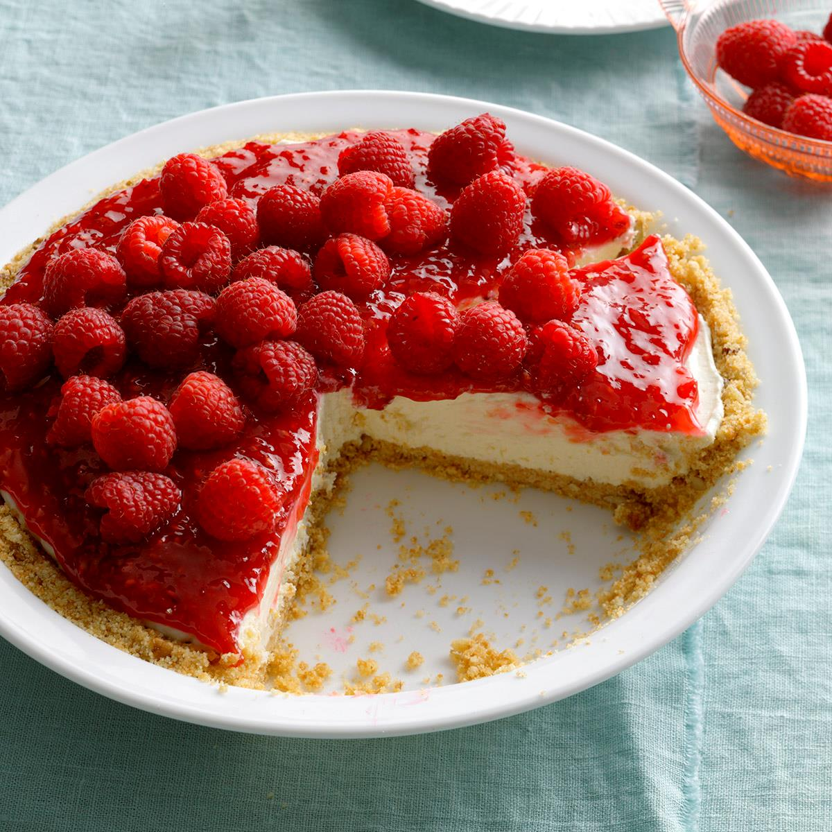 Contest Winning Raspberry Cream Pie Recipe Taste Of Home