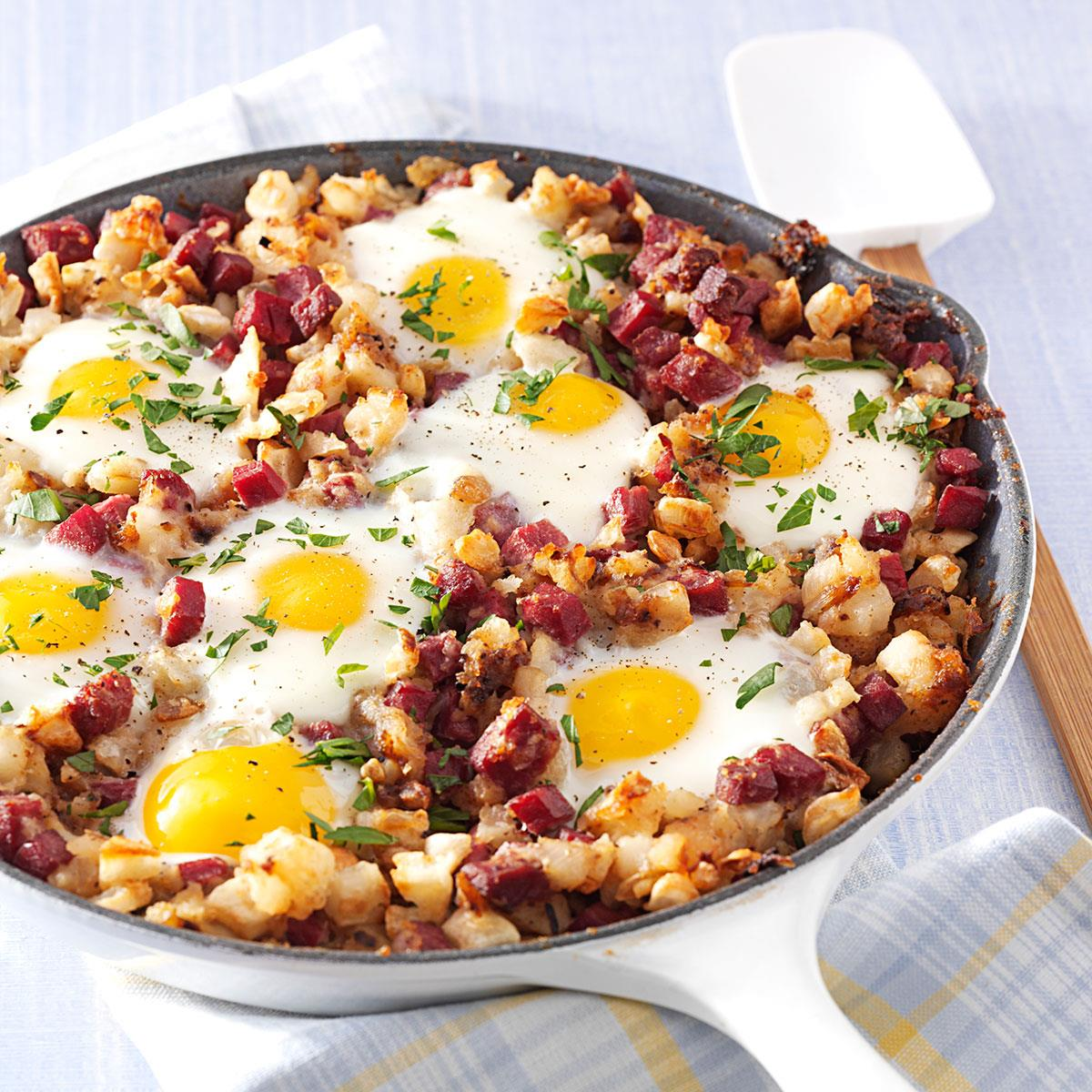 Corned Beef Hash And Eggs Recipe