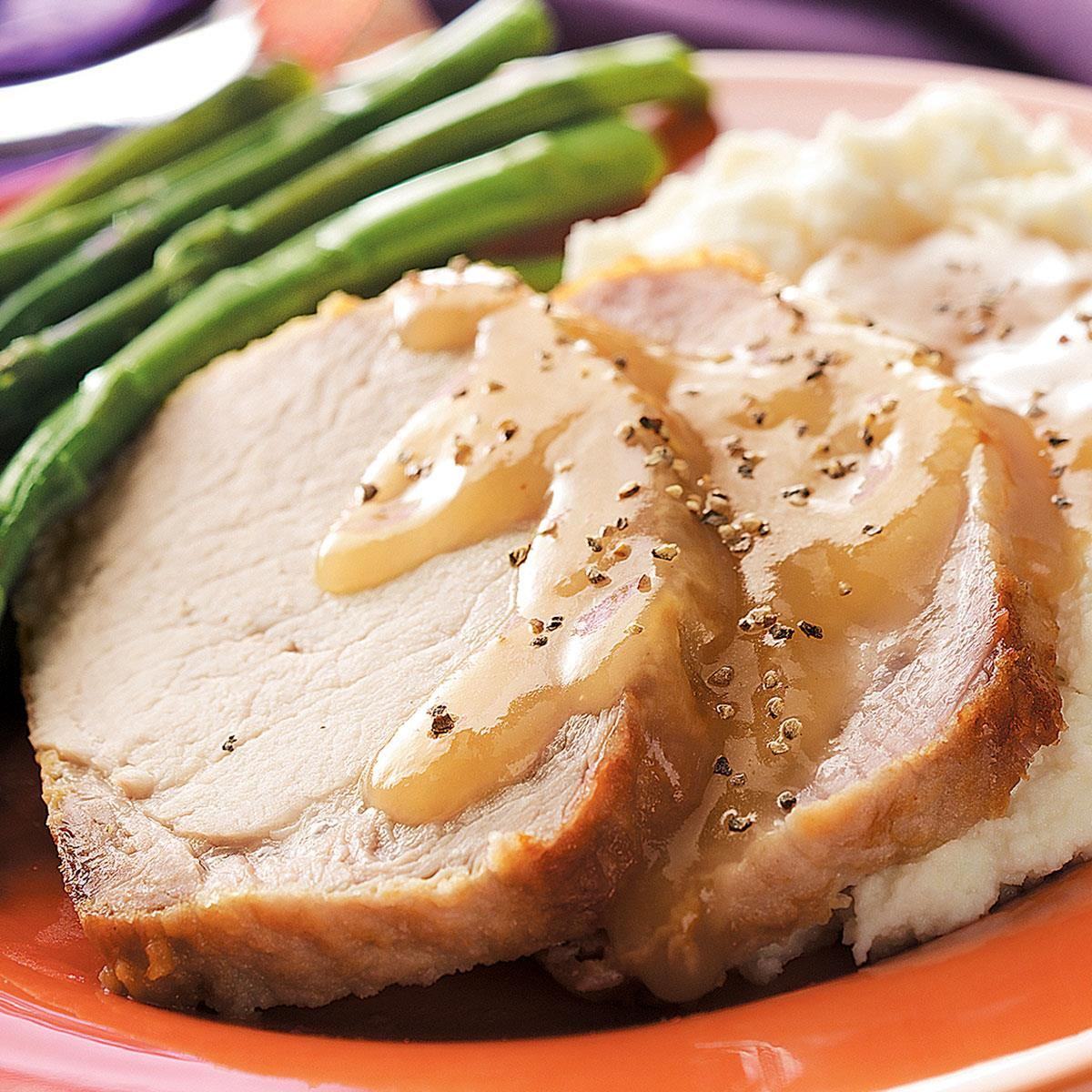 Country-Style Pork Loin With Gravy Recipe