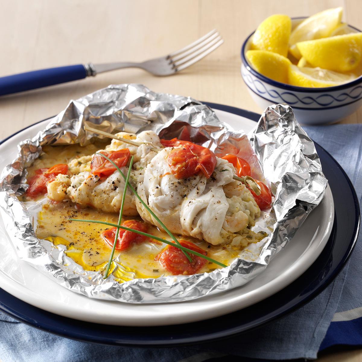 Crab & Shrimp Stuffed Sole Recipe | Taste of Home