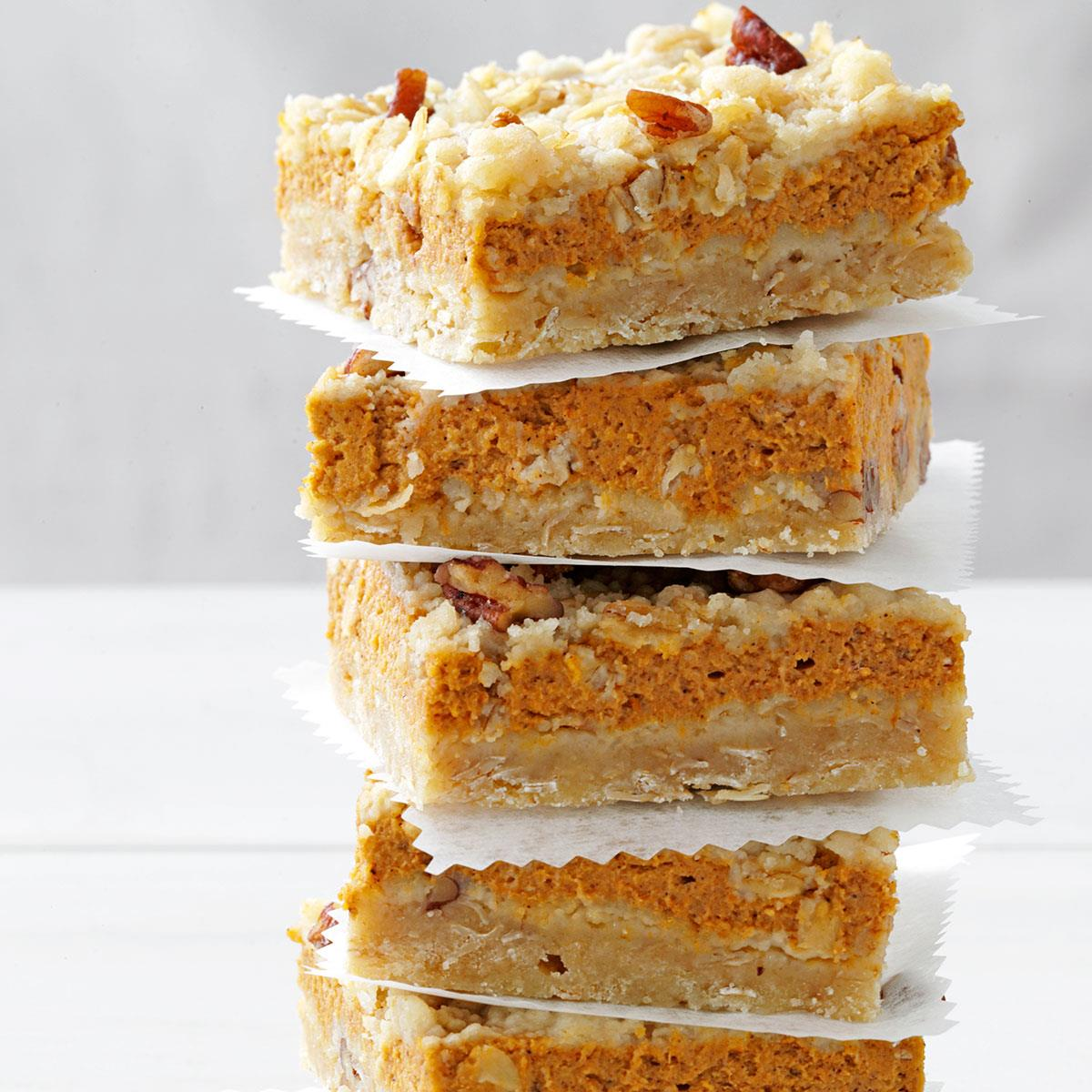 Pumpkin Dessert Bars Recipe: Cream Cheese Pumpkin Bars Recipe