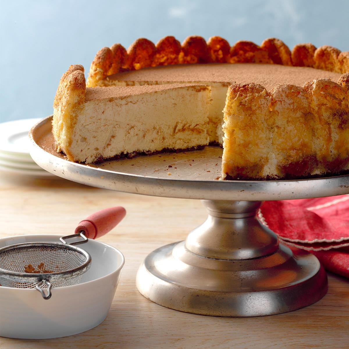 Creamy Tiramisu Cheesecake Recipe | Taste of Home