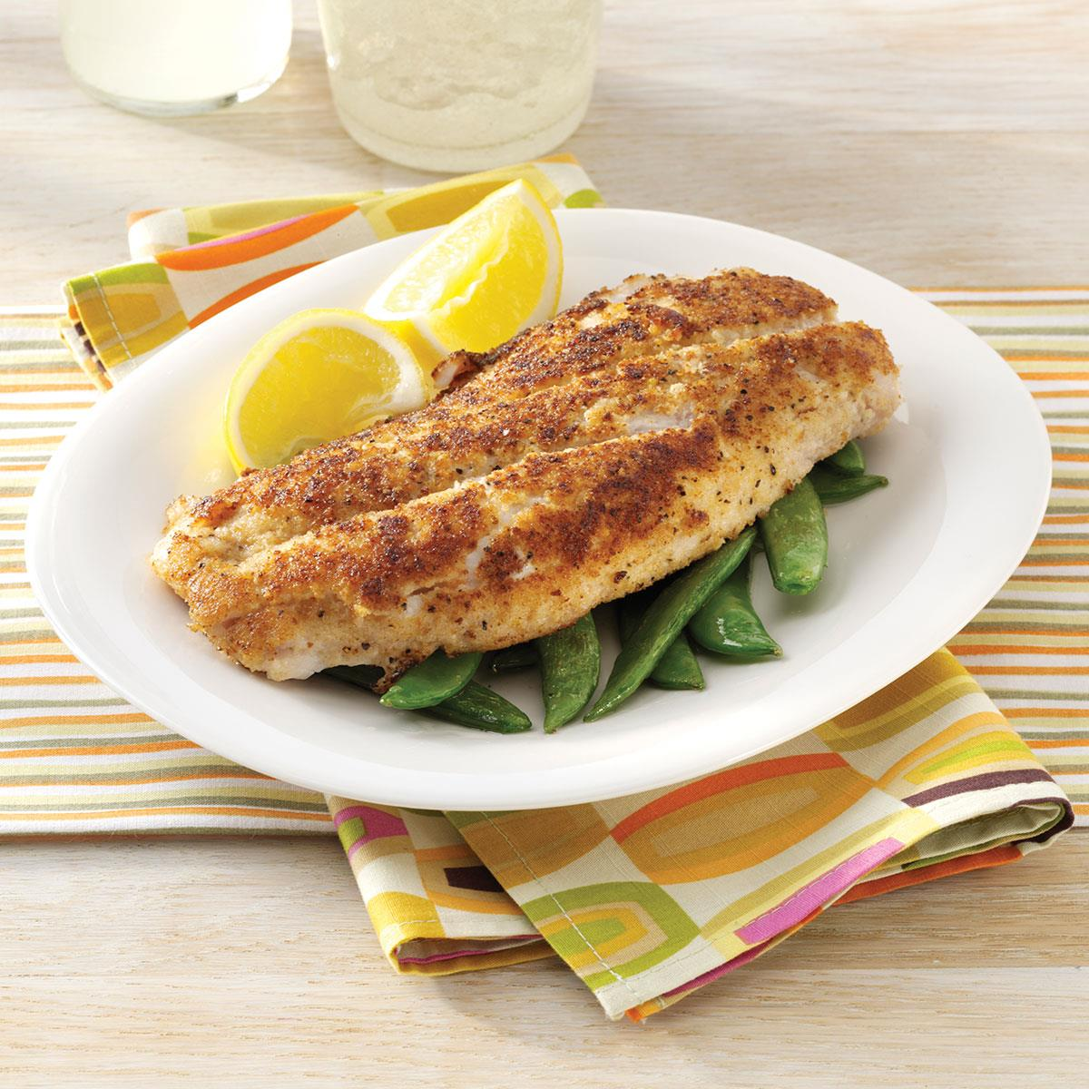 Crumb coated red snapper recipe taste of home for Snapper fish recipes