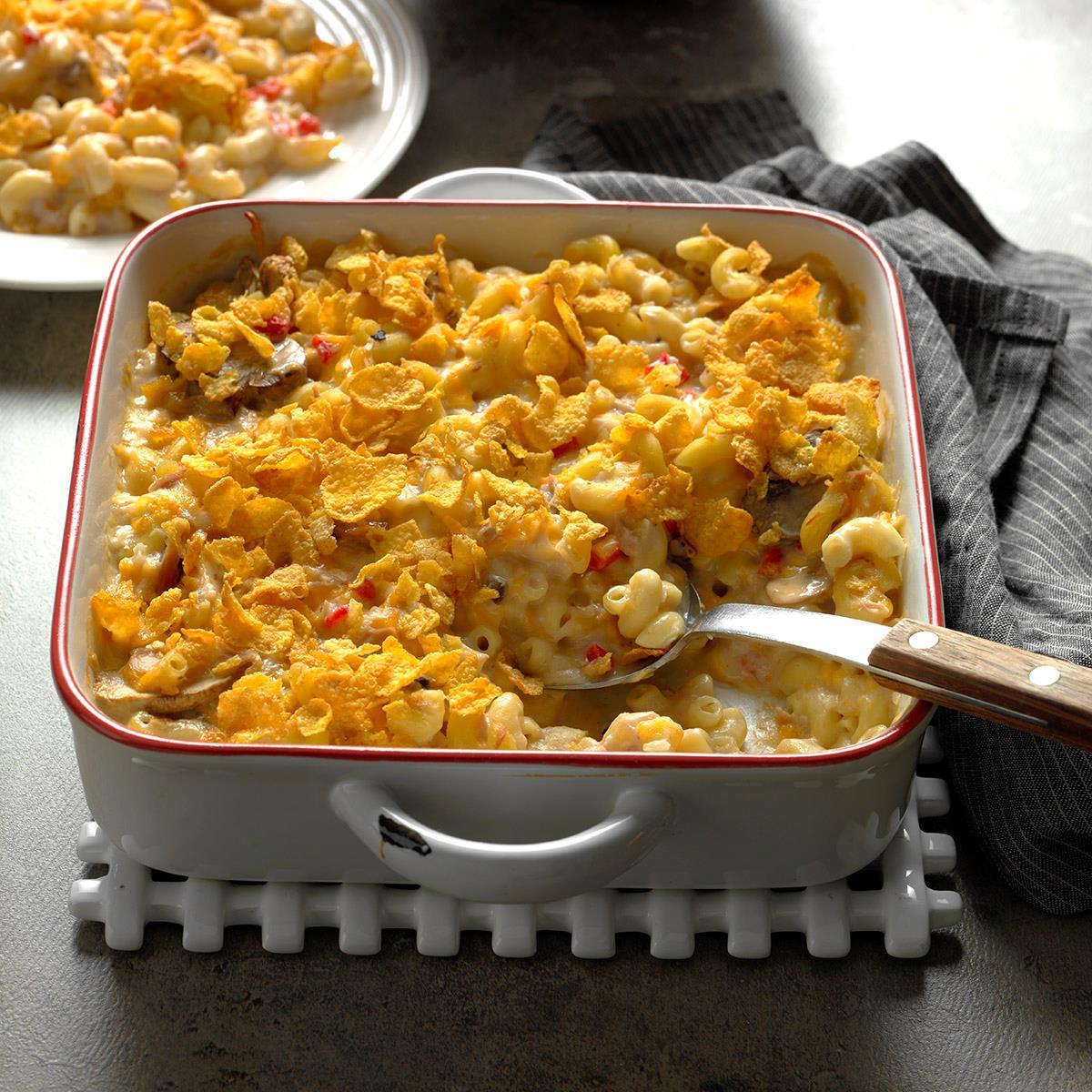 De lightful tuna casserole recipe taste of home for How to make tuna fish casserole