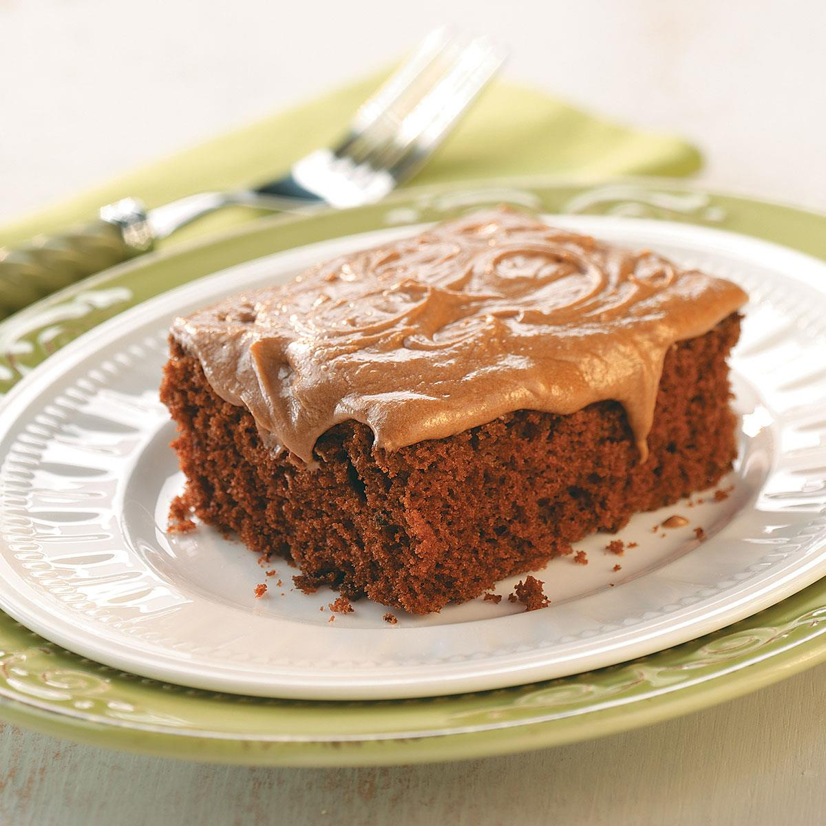 Recipe For Potluck Chocolate Cake With Frosting