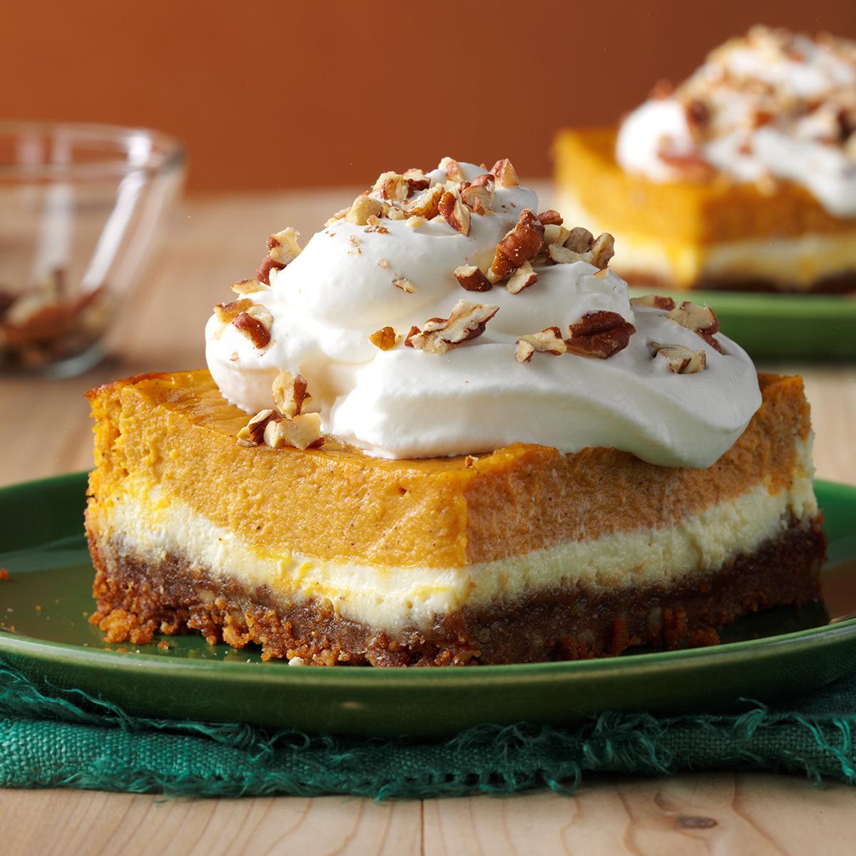 Double-Layer Pumpkin Cheesecake Recipe