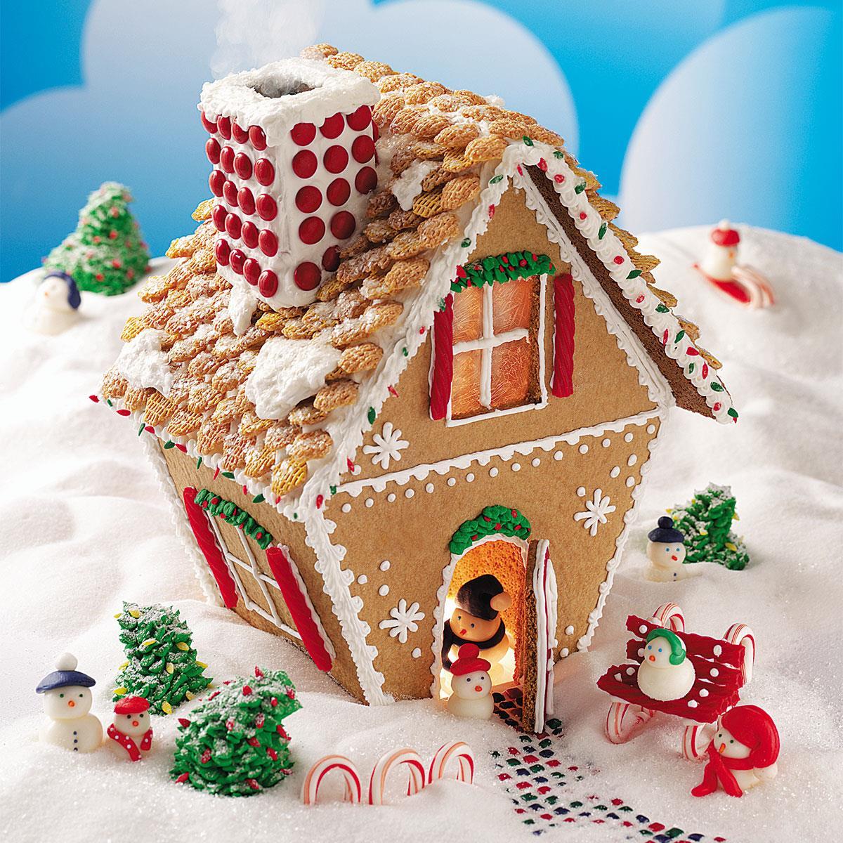Gingerbread Home Decor: Winter Wonderland Gingerbread Cottage Recipe