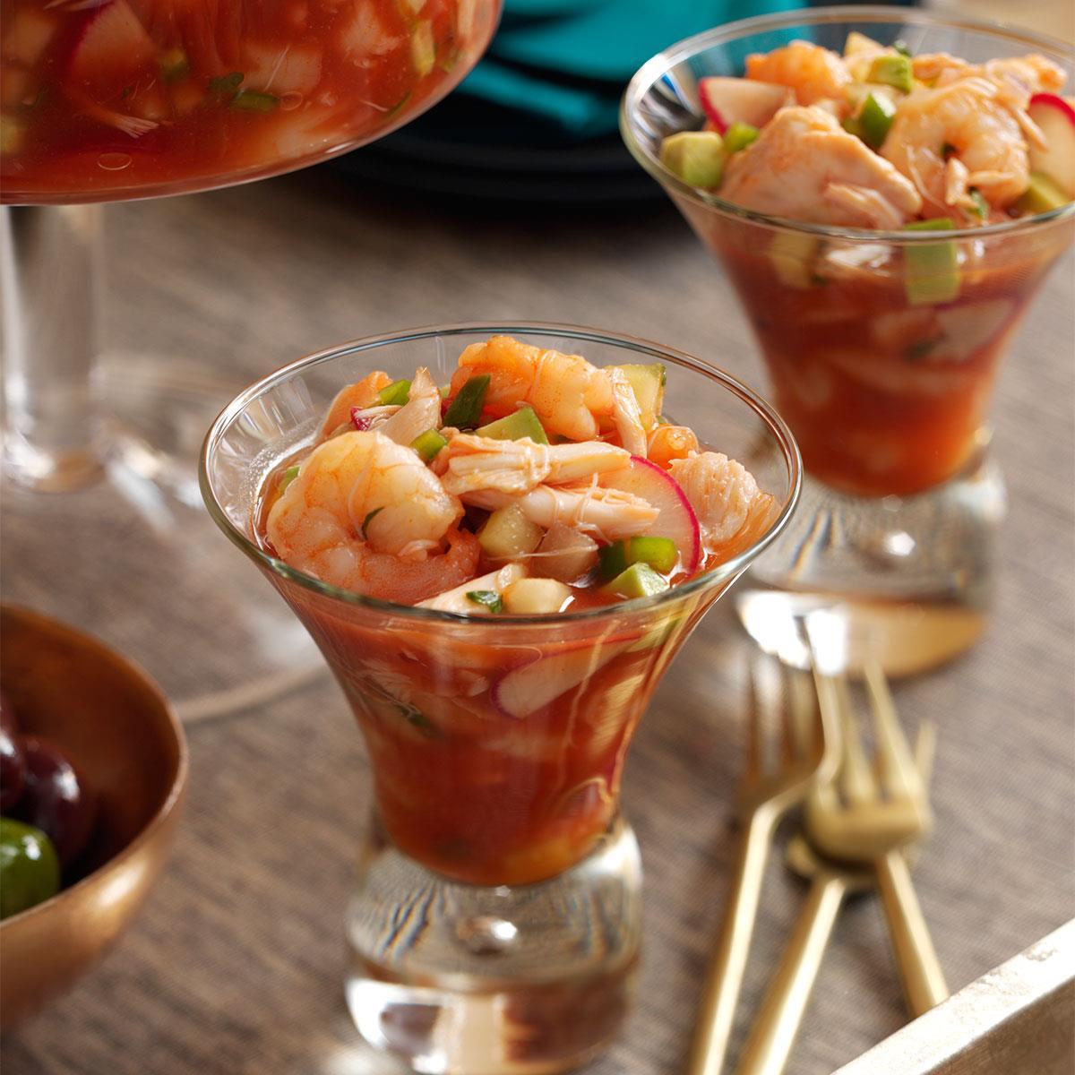 Spicy Shrimp Amp Crab Cocktail Recipe Taste Of Home